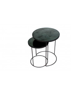 Charcoal Nesting Side Table Set