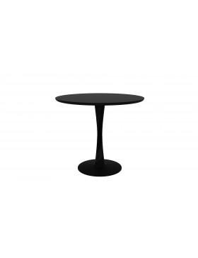 Eik Torsion ronde tafel zwart 90 x 90 x 76 cm