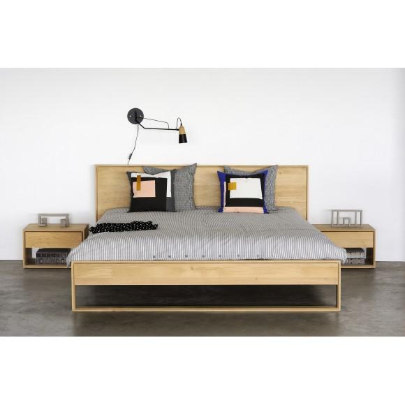Oak Nordic II bed - zonder latten - matras afmeting 180-200