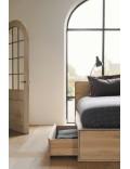 Oak Nordic II bed - met lades - zonder latten - matras afmeting 180-200