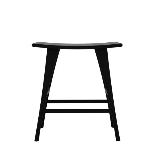 Eik Osso kruk hoog zwart 57 x 33 x 61cm