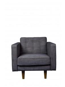 Sofa 1 zit Ash Grey (zonder kussens)