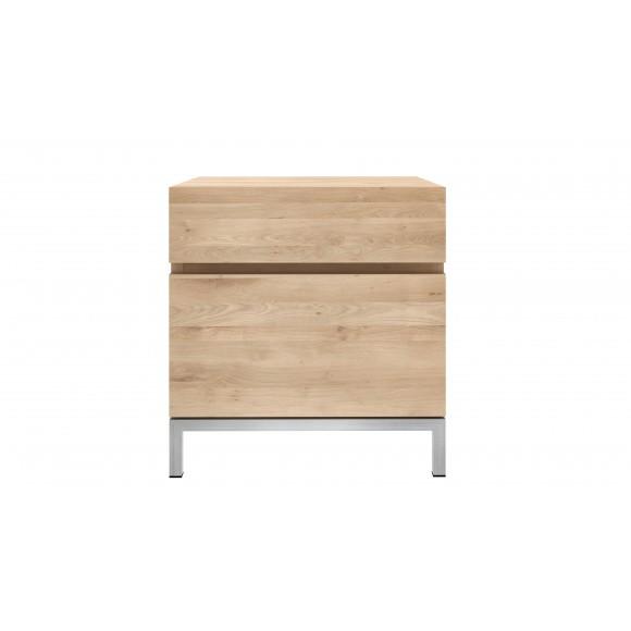 Oak Ligna nachtkastje - 1 deur rechts - 1 lade