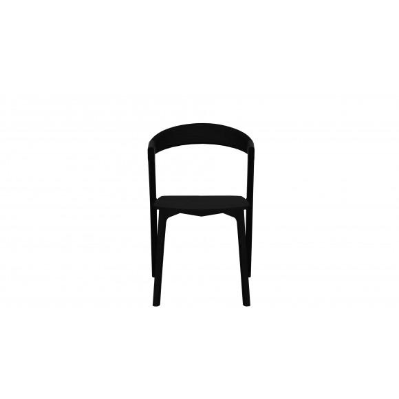 Oak Bok stoel -zwart - zonder armleuning