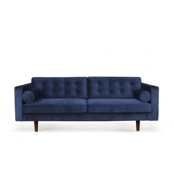 Sofa 3 zit blue velvet