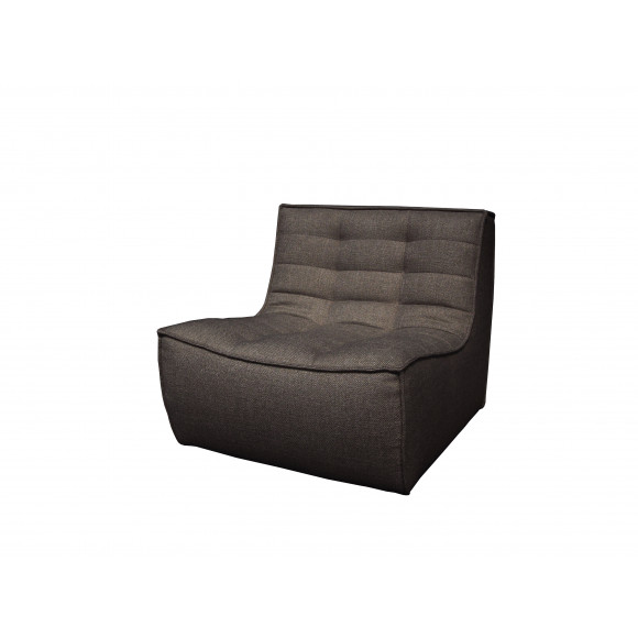 N701 1- zit sofa donkergrijs