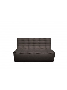 N701 2- zit sofa donkergrijs