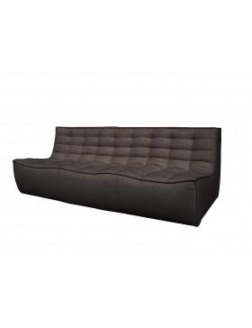 N701 3- zit sofa donkergrijs
