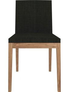 Teak B1 stoel - zonder armleuning - Turkish Coffee