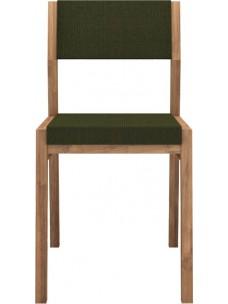 Teak EX 1 stoel - zonder armleuning - Turkish Coffee