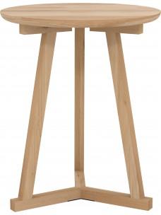 Oak driepoot bijzettafel 46 x 46 x 56 cm