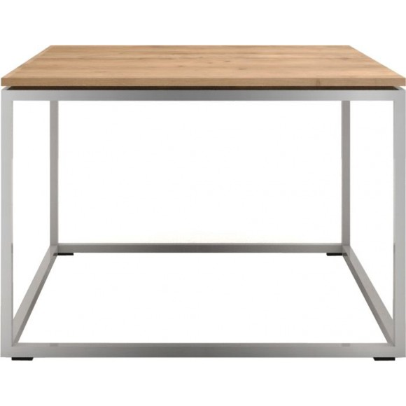 Oak Thin bijzettafel - stainless steel frame