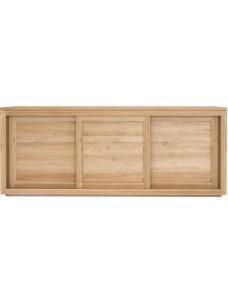 Oak Pure dressoir - 3 schuifdeuren 200 x 47 x 80 cm