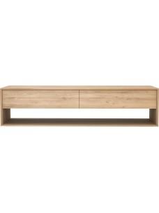 Oak Nordic TV kast - 1 neerklap deur - 1 lade 180 x 46 x 45 cm