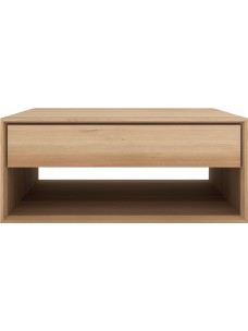 Oak Nordic salontafel - 1 lade 80 x 80 x 35 cm