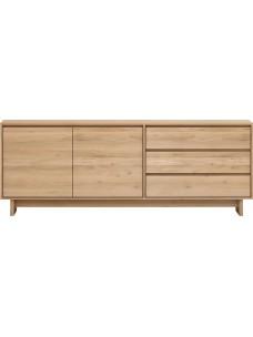 Oak Wave dressoir - 2 deuren - 3 lades