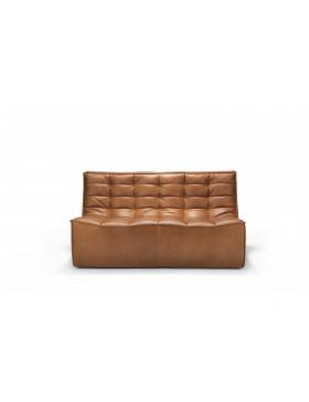N701 2- zit sofa old saddle leer