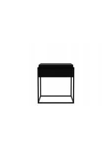 Monolit bijzettafel eik zwart S (afneembaar deksel)