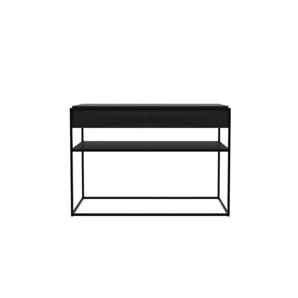Monolit console eik zwart - 2 lades - 122x40x85cm