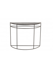 Charcoal half-moon console