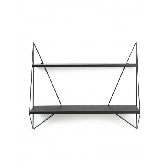 Vlinder plankje - enkel - zwart hout - 75X22xH64 cm