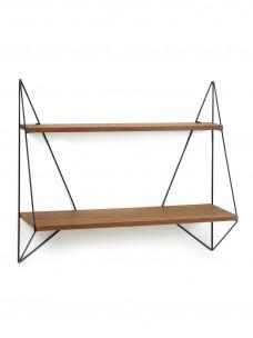 Vlinder plankje - enkel - bruin hout - 75X22xH64 cm