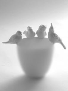 Vogeldeco Voor Vaas-Pot-Theelicht