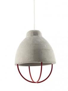 Lamp Feeling Beton D17 H24 Rood Ijzer